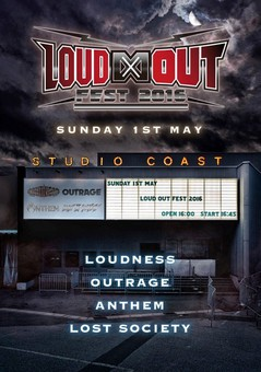 Anthem / Loudness / Outrage / Lost Society - Loud∞Out Fest 2016