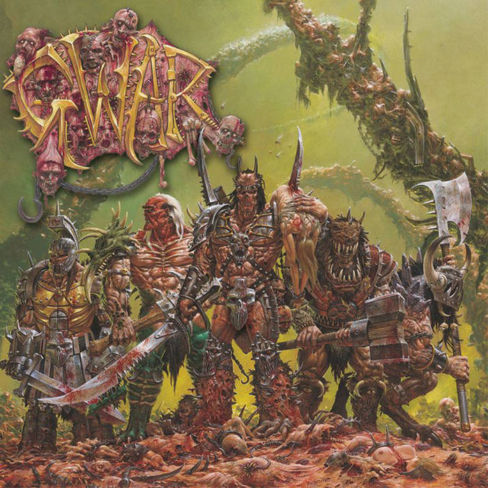 The cover artwork was drawn by Adrian Smith of Warhammer 40K and White Dwarf