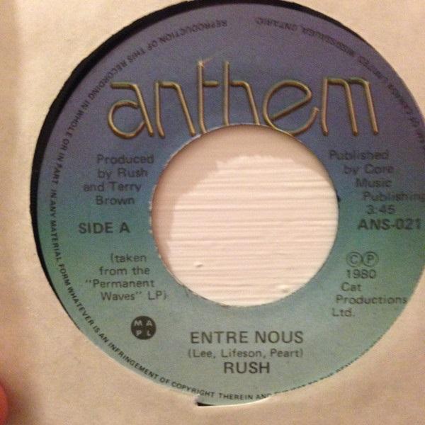 Rush - Entre Nous