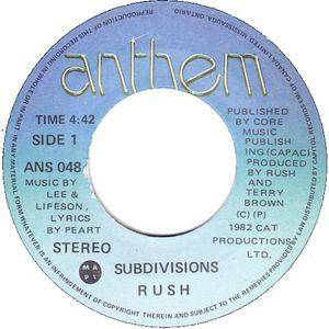 Rush - Subdivisions