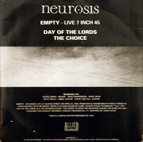 Neurosis - Empty - Live 7 Inch 45