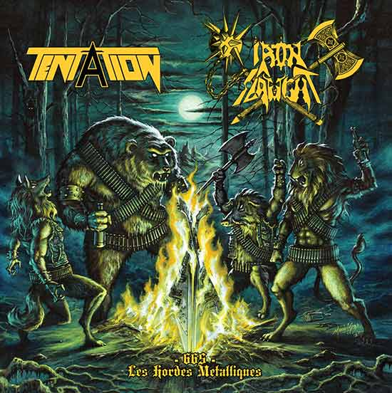 Tentation / Iron Slaught - - 665 - Les Hordes Metalliques