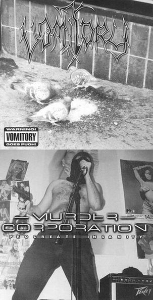 Vomitory / Murder Corporation - Procreate Insanity / Warning! Vomitory Goes Pugh!