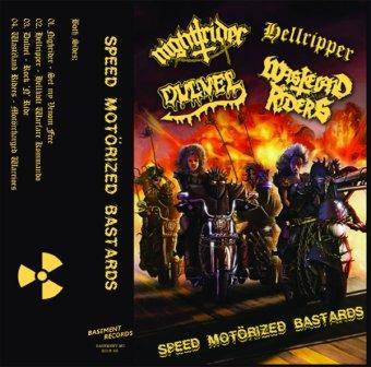Dulvel / Hellripper / Wastëland Riders / Nightrider - Speed Motörized Bastards