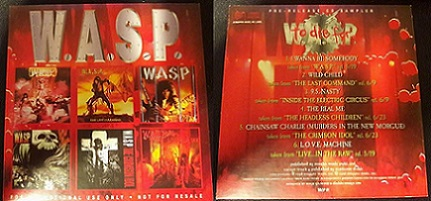 W.A.S.P. - To Die For (Pre-released CD Sampler)
