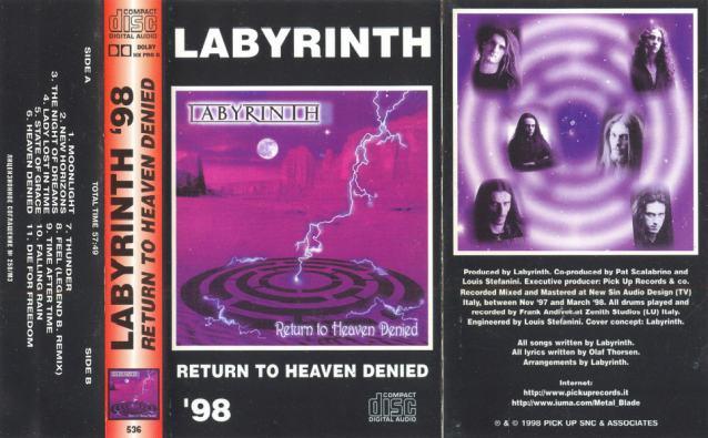 Labÿrinth Return To Heaven Denied Encyclopaedia Metallum The Metal Archives