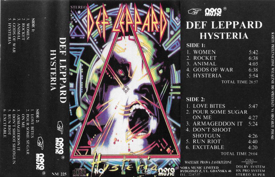 Def Leppard - Hysteria - Encyclopaedia Metallum: The Metal Archives