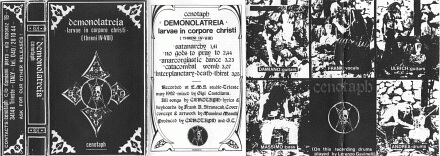 Cenotaph - Demonolatreia (Larvae in Corpore Christi)