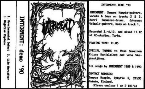 Interment - Demo '90