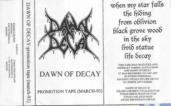 Dawn of Decay - Promo Tape