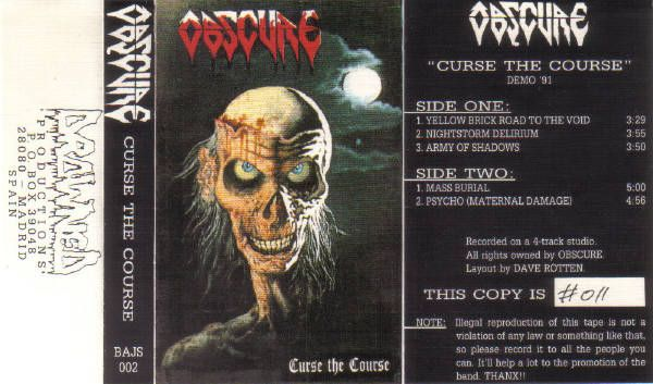 Obscure - Curse the Course