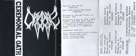 Ceremonial Oath - Promo 1991