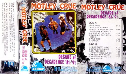 Mötley Crüe - Decade of Decadence '81-'91 - Encyclopaedia