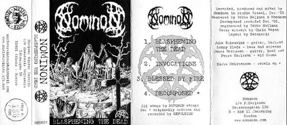 Nominon - Blaspheming the Dead