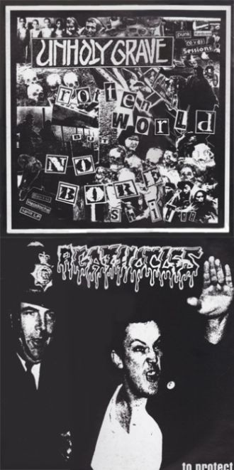 Agathocles / Unholy Grave - .....to Protect / Rotten World but No Bore Shit!!