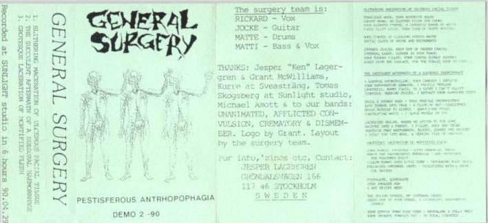 General Surgery - Pestisferous Anthropophagia