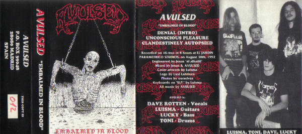 Avulsed - Embalmed in Blood