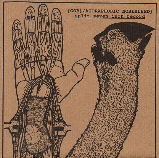 Agoraphobic Nosebleed - Split Seven Inch Record