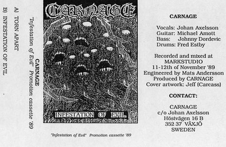 Carnage  - Infestation Of Evil (Demo) (1989 )
