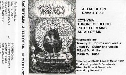 Sacretomia - Altar of Sin