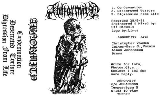 Abnormity - Demo 1991
