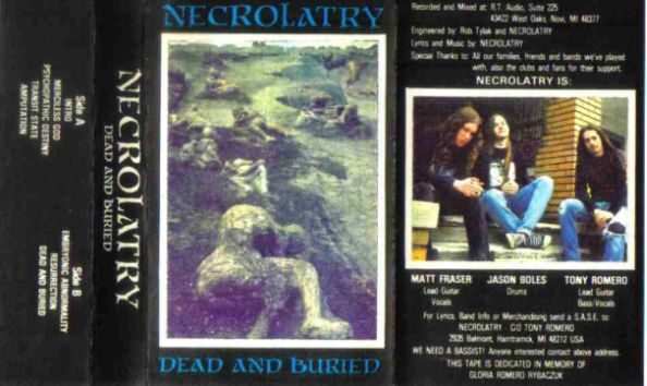 Necrolatry - Dead and Buried