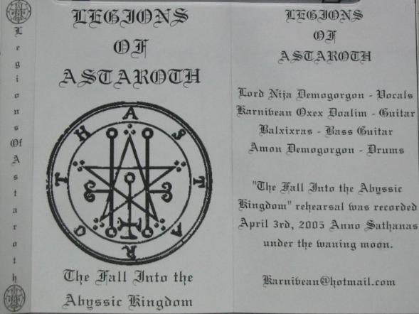 Legions of Astaroth - The Fall into the Abyssic Kingdom