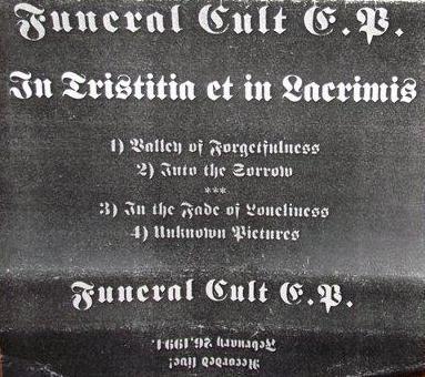 Funeral Cult - In Tristitia et in Lacrimis