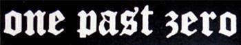 One Past Zero - Logo