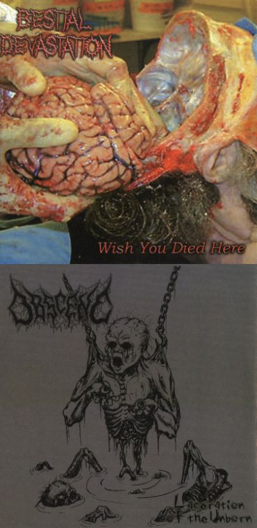 Obscene / Bestial Devastation - Wish You Died Here / Laceration of the Unborn
