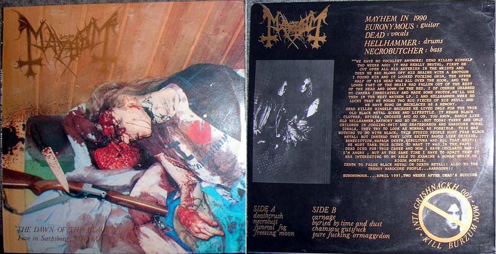 Mayhem - The Dawn of the Black Hearts - Live in Sarpsborg, Norway 28/2, 1990