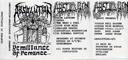 Absolution - Remittance of Penance...