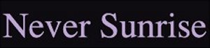 Never Sunrise - Logo