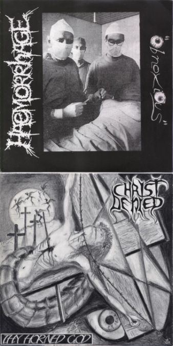 Haemorrhage / Christ Denied - Obnoxious / Thy Horned God