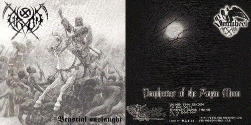 Grom / Sunwheel - Beastial Onslaught / Prophecies of the Aryan Moon