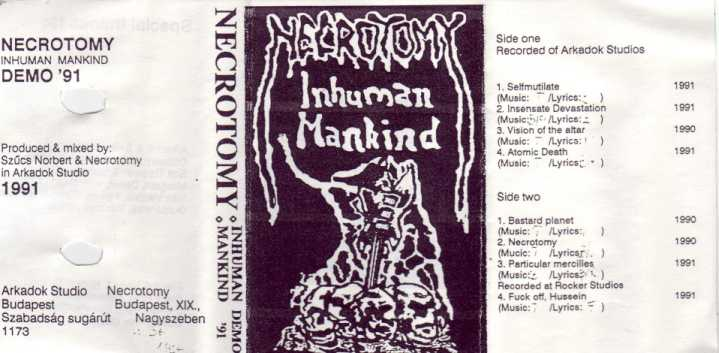Necrotomy - Inhuman Mankind