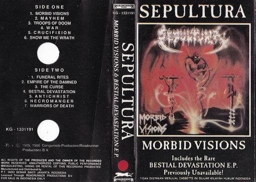 Sepultura - Morbid Visions & Bestial Devastation E.P.