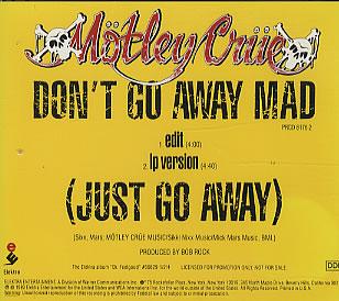 Mötley Crüe - Don't Go Away Mad (Just Go Away)