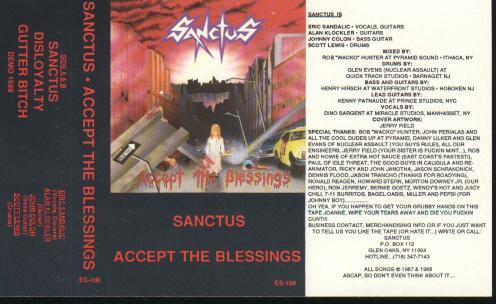 Sanctus - Accept the Blessings