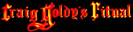 Craig Goldy's Ritual - Logo