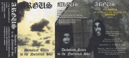 Argus - Diabolical Risen to the Nocturnal Sky