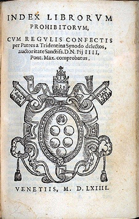 Vicarivs Filii Dei - Index Librorum Prohibitorum