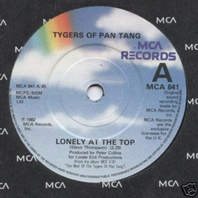 Tygers of Pan Tang - Lonely at the Top