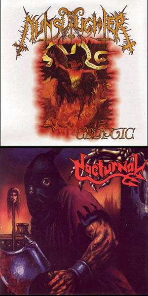 Nunslaughter / Nocturnal - Cryptic