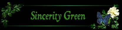 Sincerity Green - Logo