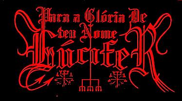 Para a Glória de Teu Nome Lúcifer - Logo