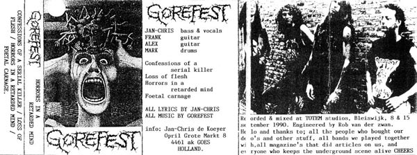 Gorefest - Horrors in a Retarded Mind