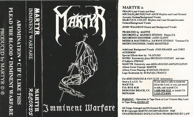 Martyr - Imminent Warfare
