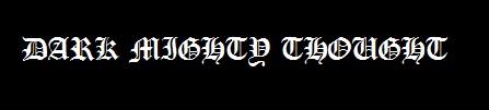 Dark Mighty Thought - Logo